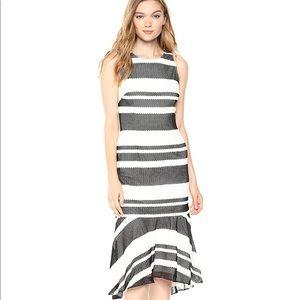 Adrianna Papell striped kang kang dress SZ 12 NWT